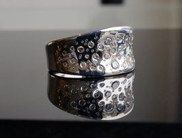 Ring Raindrops-Collection aus Silber mit Zirkonia