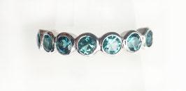 Ring mit 7 Paraiba-Turmalinen aus Platin Memory-Collection