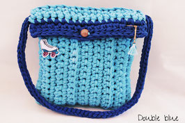 Sac en crochet Double Blue