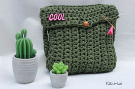 Sac en crochet Kaki cool