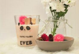 Bougie bio fleurs séchés - parfum confiture de lait