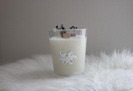 Bougie parfum Lavande 100% végétale avec fleurs séchées
