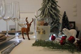Bougie BIO thème Noël