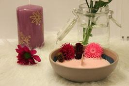 Bougie végétale déco nature fleurs séchées pot pourri Parfum Rose