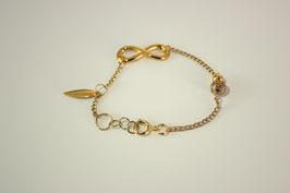 Bracelet Infinity perles dorées