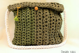 Sac en crochet Double kaki