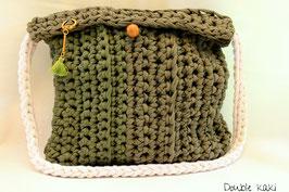 Sac en crochet Double kaki