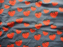 "Jersey ""fraises vintage"" coton label Oeko Tex"