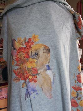 Adorable lapin champêtre en jersey coton label Oeko Tex (modèle CL)