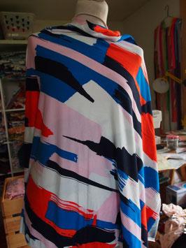 Motifs hyper colorés et so vintage pour ce jersey coton (modèle LL)