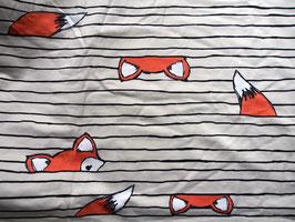 "Jersey ""cache-cache renards"" coton label Oeko Tex"