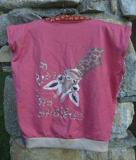 """Haut """"sweat Ω Kids"""" 8-10 ans -girafe-"""