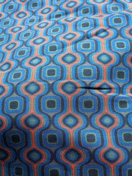 Des motifs ultra seventies pour ce jersey coton (modèle LL)