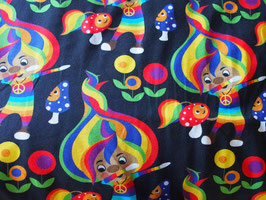 """Jersey """"lutins multicolores"""" coton label Oeko Tex"""