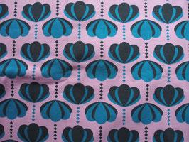 "Jersey ""tulipes vintage"" coton label Oeko Tex"