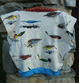 """Haut """"Sweat Ω Kids"""" 8-10 ans large -oiseaux vintage-"""