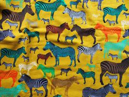 """Jersey """"zèbres multicolores"""" coton label Oeko Tex"""