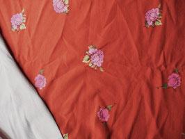 "Sweat gratté ""roses anciennes"" coton label Oeko Tex"