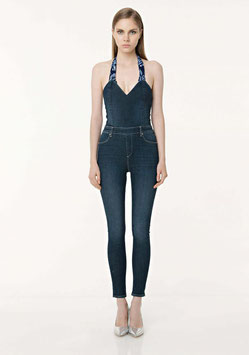 Tuta in denim donna art FR18SMJILENIA Fracomina Primavera Estate 2018