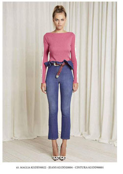 Pantalone donna art 821DD20004 Denny Rose Autunno 2018/19 col jeans