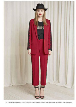 Giacca donna art 821DD30000 Denny Rose Autunno 2018/19 col rosso