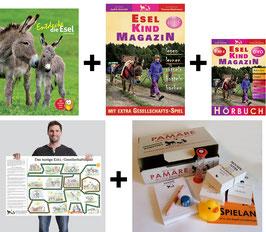 Paket: Entdecke die Esel + Hörbuch Esel-Kind MAGAZIN + Esel-Kind MAGAZIN + PAMARE + großes Esel-Gesellschaftsspiel +