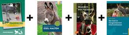 Bücherpaket: Esel Erziehung + Esel halten + Wandern mit Packeseln + Der Esel in tiergestützten Interventionen