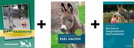 Bücherpaket: Esel Erziehung + Esel halten + Der Esel in tiergestützten Interventionen