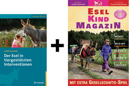 Bücherpaket: Der Esel in tiergestützten Interventionen + Esel-Kind MAGAZIN