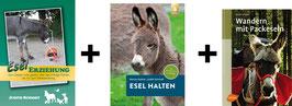 Bücherpaket: Esel Erziehung + Esel halten + Wandern mit Packeseln