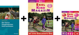 Bücherpaket: Der Esel in tiergestützten Interventionen + Esel-Kind MAGAZIN + Hörbuch Esel-Kind MAGAZIN