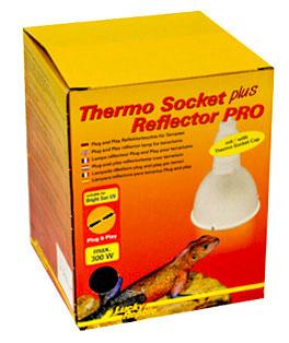 Lucky Reptile Thermo socket plus Reflector & PRO - Komplettset Fassung und Schirm anschlussfertig auch Bright sun