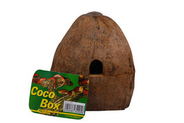 Lucky Reptile Coco Hide Box - Versteckhöhle aus NATURMATERIAL  ca. 15x14x16
