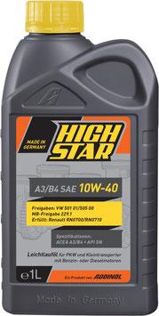 HIGH STAR A3/B4 SAE 10W-40 (1L Kart)