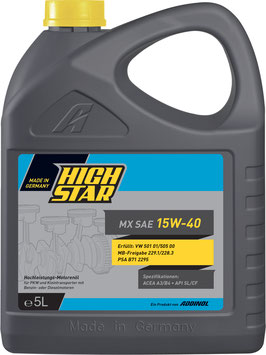 HIGH STAR MX SAE 15W-40 (5L)