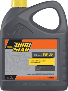 HIGH STAR C4 SAE 5W-30 (5L)
