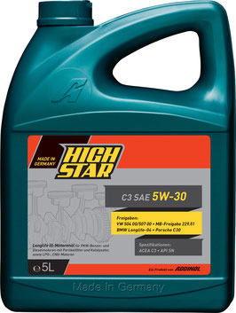 HIGH STAR C3 SAE 5W-30 (5L)