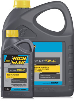 HIGH STAR MX SAE 15W-40 (SET 1L & 5L)