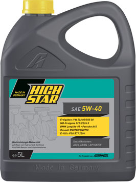 HighStar SAE 5W-40 (5L)