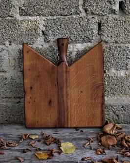 Servierbrett/ Küchenbrett aus antiker Eiche & Kupfer