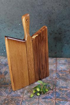 Servierbrett aus altem Eichen-Fachwerk-Holz & Blattgold