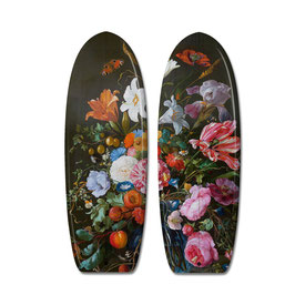 RETRO FLOWERS Diptych / 2  Surfboards