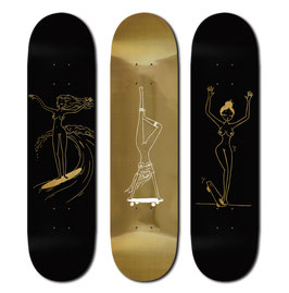 CHARLIE S GOLD ANGELS 3 SKATEBOARDS