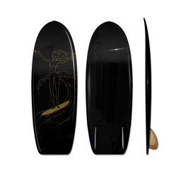 CHARLIE S GOLD ANGELS Mini Simmons Surfboard