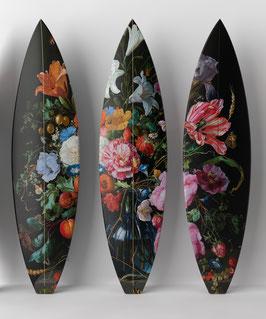 FLOWERS 3 Triptych  / 3 Surfboards