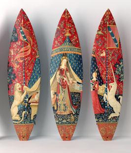 La Dame à La Licorne Triptych / 3 Surfboards