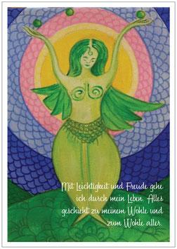 Die Göttin in Dir - Affirmations Kartenset mit 5 Göttinnenkarten