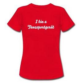 T-Shirt Damen rot Tanzsportgerät