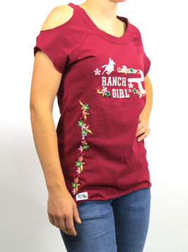 "RANCHGIRL T-SHIRT ""MARY"" red"