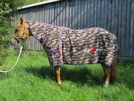 OLD SORREL HORSE FLEECE COOLER camouflage earth